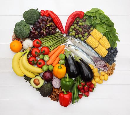 Avocado「Heart healthy Mediterranean diet in heart-shape.」:スマホ壁紙(12)
