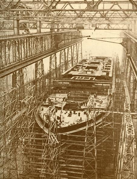 Passenger Craft「The White Star Liner 'Doric' Under Construction」:写真・画像(7)[壁紙.com]