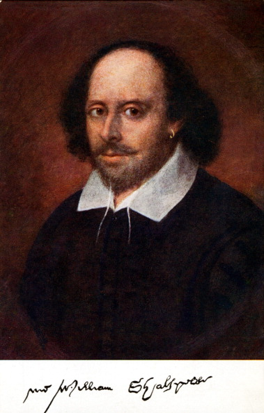 William Shakespeare「William Shakespeare  portrait with signature. Painting may be by Richard Burbage. English playwright.」:写真・画像(2)[壁紙.com]