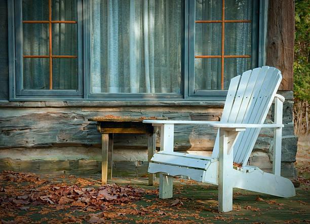 White Adirondack Chair:スマホ壁紙(壁紙.com)