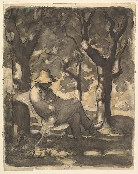 Furniture「A Man Reading In A Garden (Recto); Preliminary Sketch For A Man Reading In A Garden (V」:写真・画像(19)[壁紙.com]