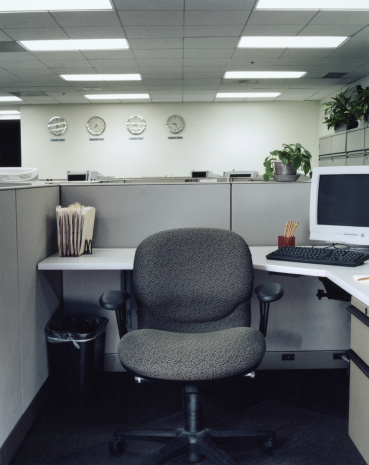 Corporate Business「Chair in office cubical」:スマホ壁紙(12)