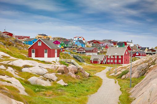 Danish Culture「Greenland Ilulissat Colorful Town Cityscape View」:スマホ壁紙(11)