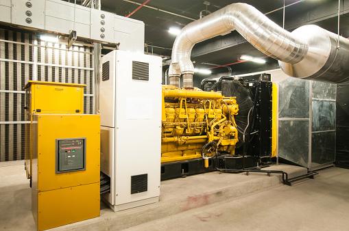 Diesel Fuel「Electrical power generator in large building interior」:スマホ壁紙(15)