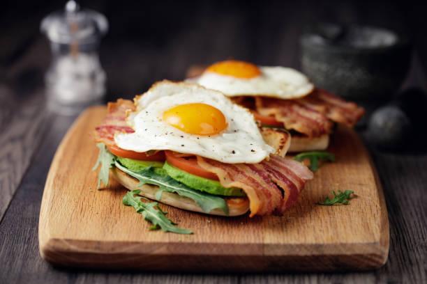 Healthy bacon fried egg brunch:スマホ壁紙(壁紙.com)
