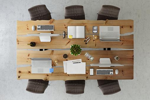 Teamwork「Office business team desk copy space knolling template」:スマホ壁紙(4)