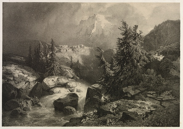 1900「Storm In The Alps. Creator: Alexandre Calame (Swiss」:写真・画像(11)[壁紙.com]