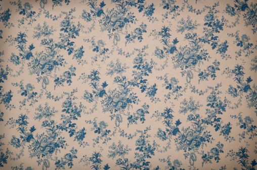 Floral Pattern「Turnsberry Toile Medium Antique Fabric」:スマホ壁紙(2)