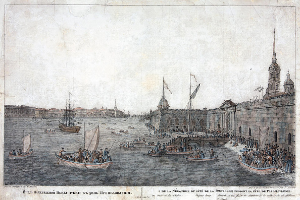 Etching「Neva River Near The Peter And Paul Fortress On The Day Of Mid-Pentecost (Prepolovenie) Celebration」:写真・画像(0)[壁紙.com]