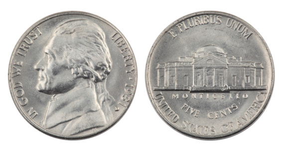 1980-1989「Jefferson Nickel」:スマホ壁紙(1)
