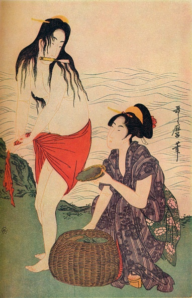 Recreational Pursuit「Right Hand Panel Of The Pearl Divers Triptych By Utamaro」:写真・画像(10)[壁紙.com]
