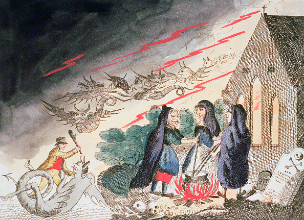 18th Century Style「Three Witches In A Graveyard circa 1790s」:写真・画像(17)[壁紙.com]