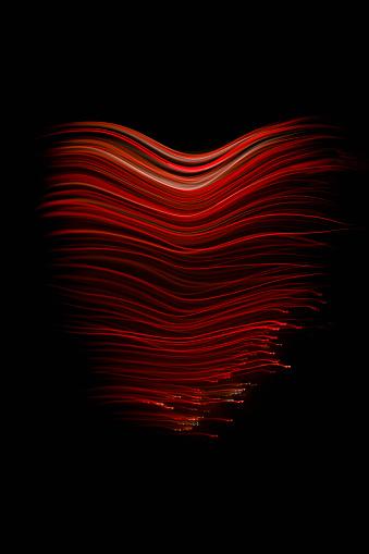 Light Trail「Love Heart created by Red Fibre Optic Trails」:スマホ壁紙(9)
