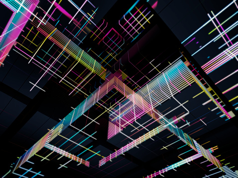 Quantum Computing「Complex glowing structures」:スマホ壁紙(14)