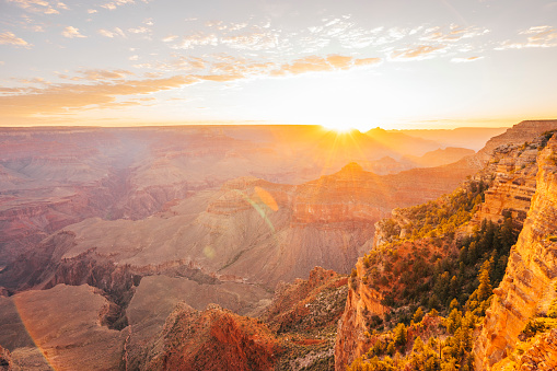 National Landmark「Grand Canyon National Park during sunrise」:スマホ壁紙(9)