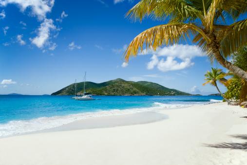 Catamaran「Sandy Cay, BVI - beautiful island in the Caribbean」:スマホ壁紙(0)
