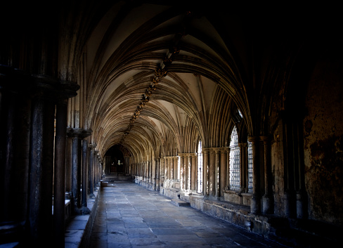 Cathedral「Norwich Cathedral cloister and ceiling」:スマホ壁紙(1)