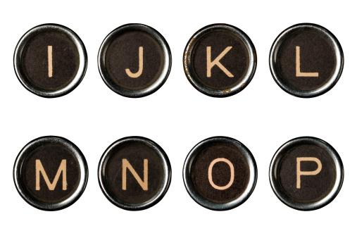 Letter N「Type writer keys alphabet with clipping paths」:スマホ壁紙(13)