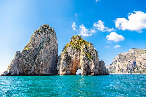 Tyrrhenian Sea「Italy, Campania, Capri」:スマホ壁紙(9)