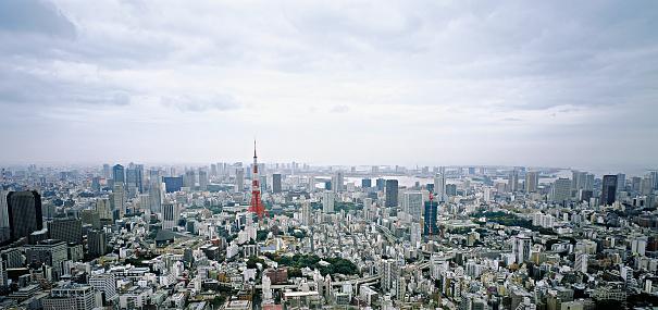 Tokyo Tower「Overview on Tokyo, Japan」:スマホ壁紙(10)