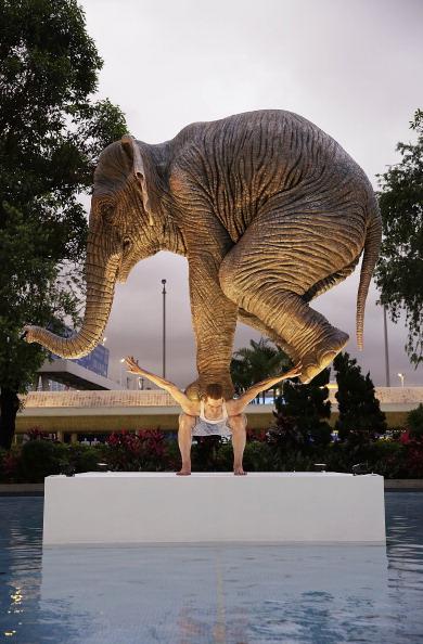 Jessica Hromas「Fabien Merelle's Life-Sized Sculpture Of An Elephant Balancing On A Man」:写真・画像(16)[壁紙.com]