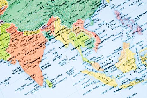 Nepal「India and Malaysia regional map」:スマホ壁紙(17)