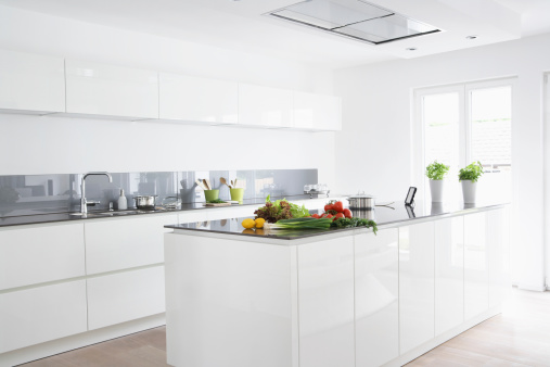 Domestic Kitchen「Germany, Cologne, Fruit and vegetables in kitchen」:スマホ壁紙(7)