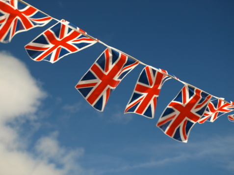 Jersey - England「British flags and bunting decoration in Jersey」:スマホ壁紙(7)