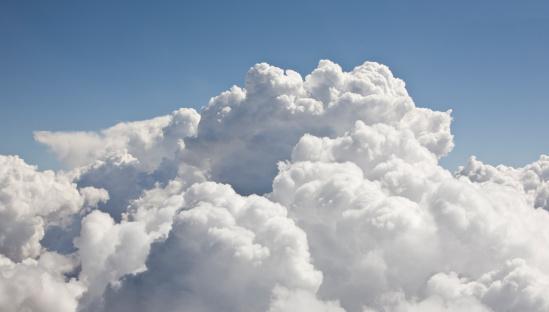 Religion「Cumulus clouds, aerial view」:スマホ壁紙(15)