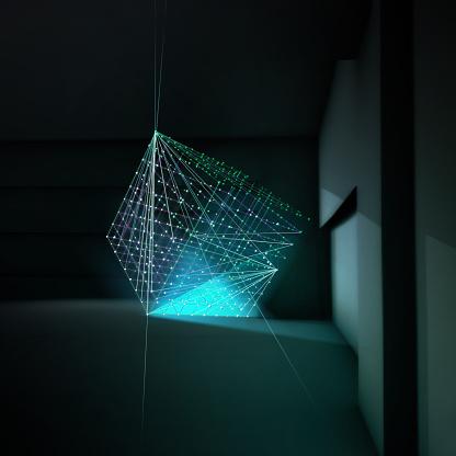 Square - Composition「Light Lines Room 01」:スマホ壁紙(6)