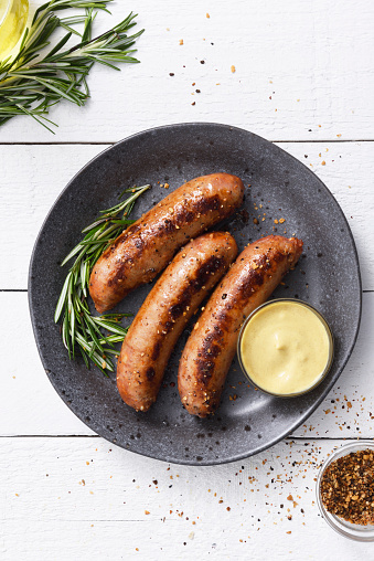 Sausage「Sausages with dijon mustard sauce and seasoning」:スマホ壁紙(4)