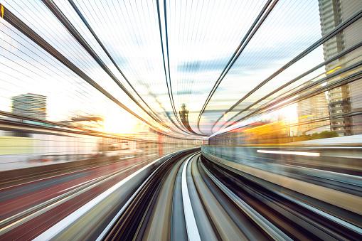 Shinbashi - Tokyo「Speed train rides in the city downtown」:スマホ壁紙(13)