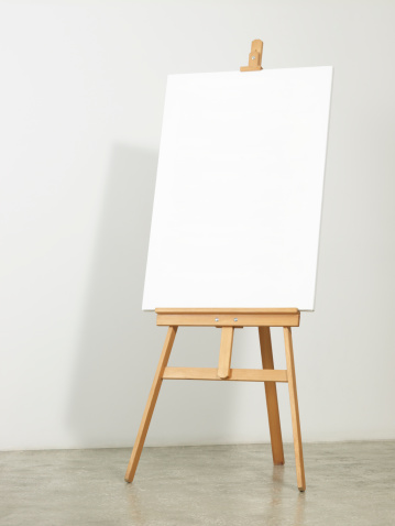 立つ「イーゼル、垂直のキャンバス」:スマホ壁紙(5)