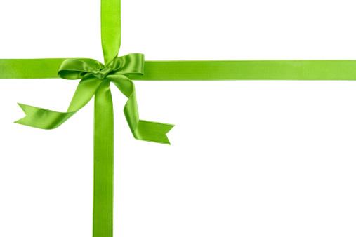Christmas Paper「Green gift bow」:スマホ壁紙(5)