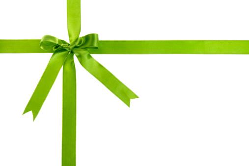 Christmas Paper「Green gift bow」:スマホ壁紙(13)