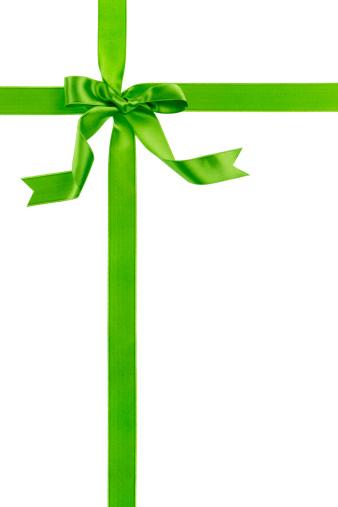 Christmas Paper「Green gift bow」:スマホ壁紙(6)
