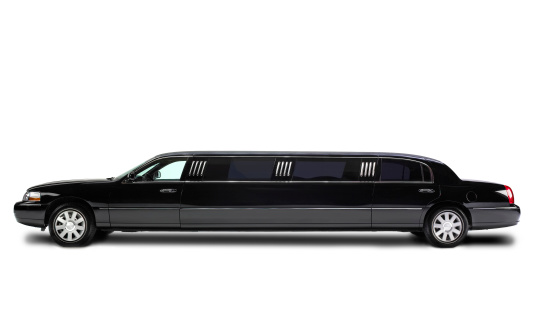Black Color「Stretch Limousine isolated on white」:スマホ壁紙(1)