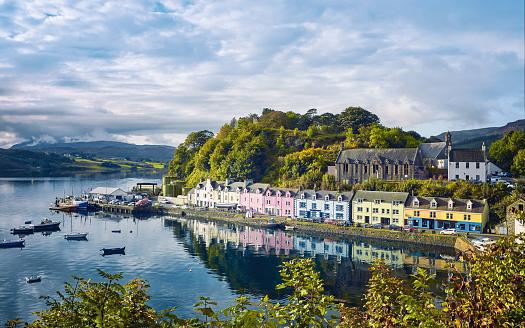 Pier「Portree, Isle of Skye, Scotland」:スマホ壁紙(12)