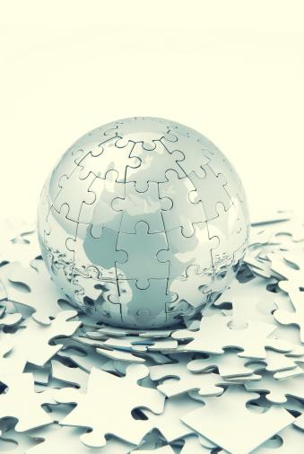 Dividing「Jigsaw puzzle of globe」:スマホ壁紙(9)