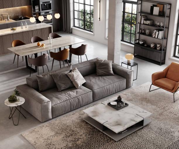 Well furnished living room render:スマホ壁紙(壁紙.com)