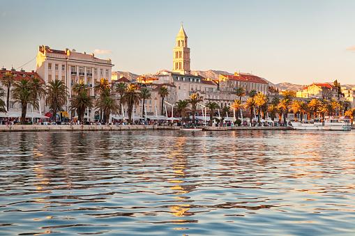 Croatia「View of Split old town from the sea, Croatia」:スマホ壁紙(14)