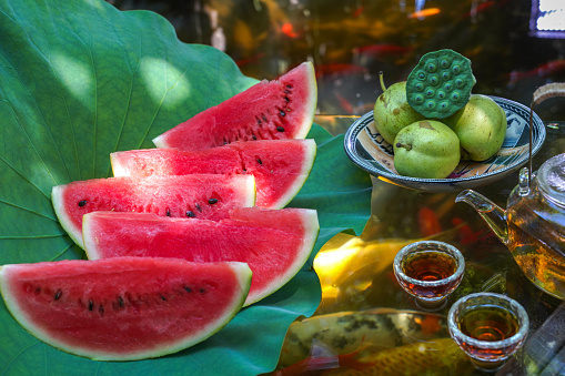 Carp「The pond water melon」:スマホ壁紙(10)