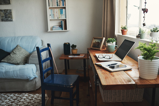 Laptop「Welcome to my home office」:スマホ壁紙(0)