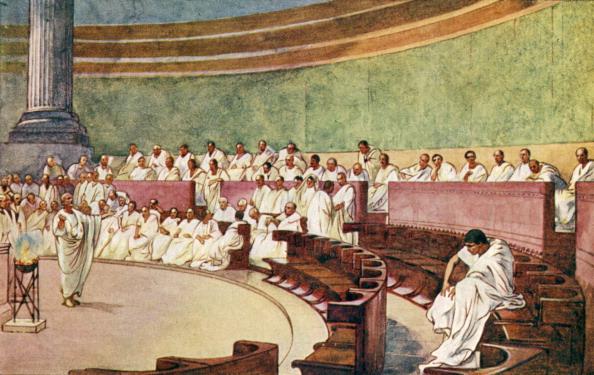 Politics「The Roman Empire - the Senate assembled in a temple.」:写真・画像(18)[壁紙.com]