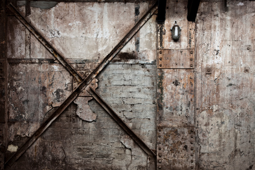 Rusty「Vintage Destroyed Brick Wall Background」:スマホ壁紙(3)