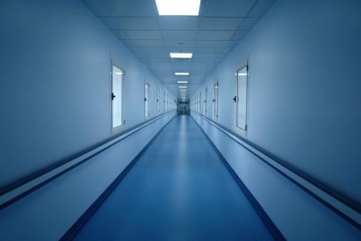 Postmodern「Cold blue corridor」:スマホ壁紙(12)