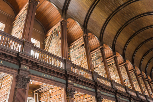 The Past「Library at Trinity College」:スマホ壁紙(3)