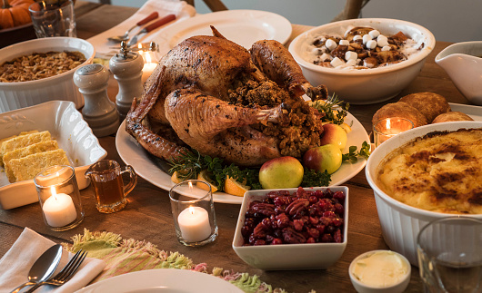 Stuffing - Food「Dining table filled with thanksgiving food」:スマホ壁紙(11)