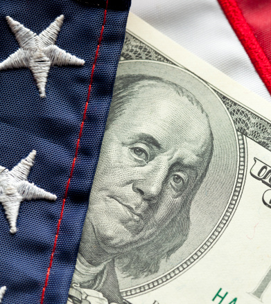 Politics「Money and Flag」:スマホ壁紙(18)