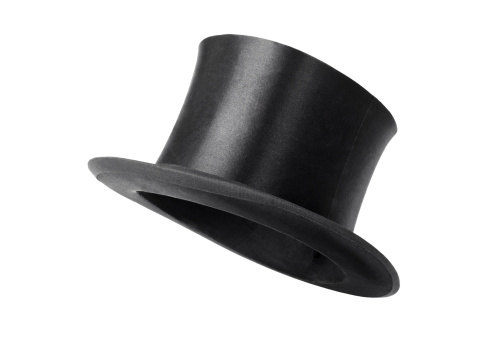 Classical Style「Retro top hat ready to wear on white background」:スマホ壁紙(18)